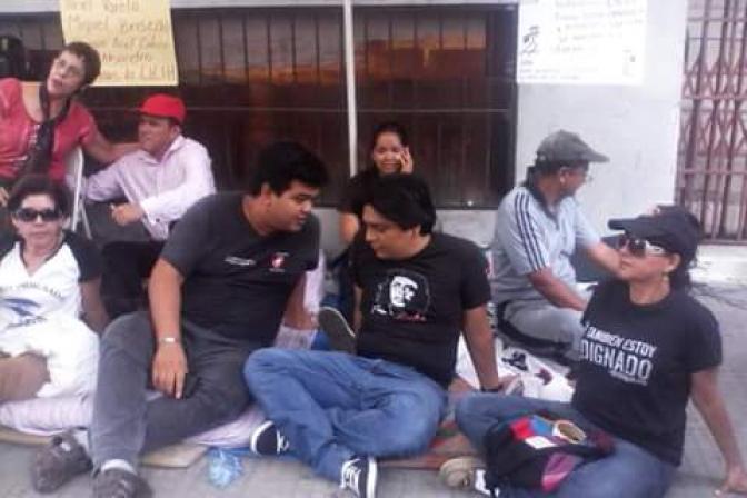 Jóvenes en San Pedro Sula iniciaron un ayuno frente a Ministerio Público