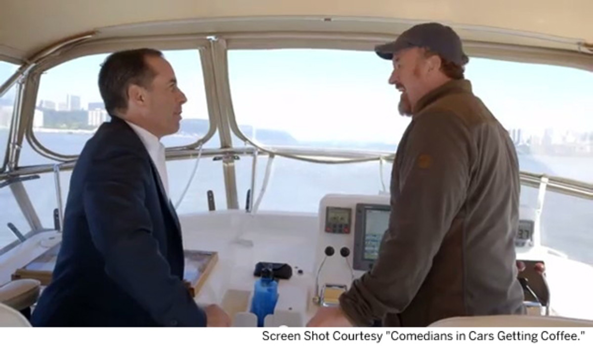 Go Boating With Comedians Jerry Seinfeld And Louis CK