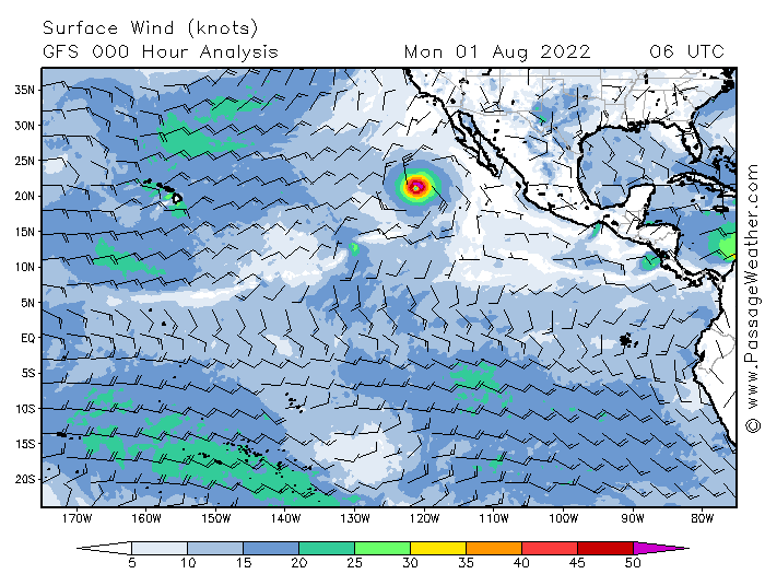 East Pacific Weather Chart