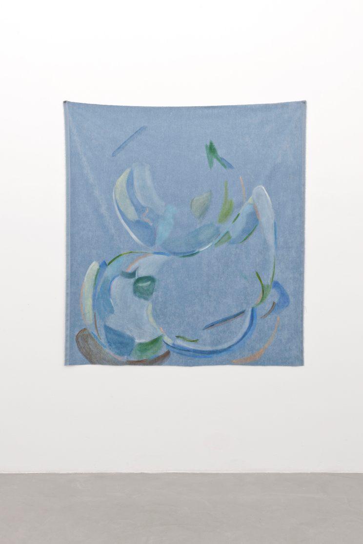 Beatrice Meoni, Inclinazioni, 2018, olio su velluto, cm165x148