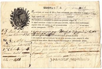1831 Genova per Cadice