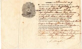 1849 Livorno ''Veliero Alexsandre ,,Russia'' per Tunisi