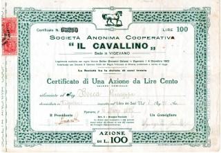 1929 '' Il Cavallino '' Vigevano Milano