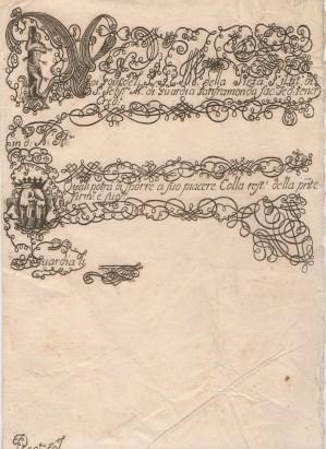 1800 Monte della Pieta'di San Sebastiano Martire della Guardia di Saframonda Napoli R8
