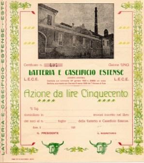 1920 Latteria e Caseificio Estense dato a Este