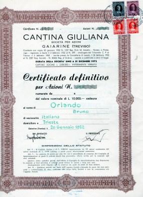 1952 Cantina Giuliana ril a Gaiarine Treviso