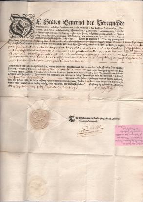 1630 Passaporto degli stati d'Olanda ,dato a
