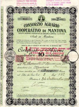 1926 Consorzio Agrario Cooperativo di Mantova