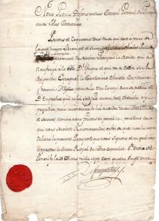 1791 Louis Defonspertuis Console di Francia alle Canarie, dato al Ghirurgo Charles Fuillet x la Francia