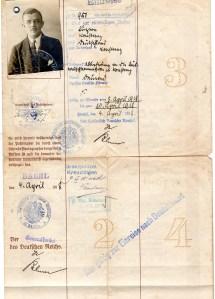 1918 Reisepass Germania ril a Basel Svizzera