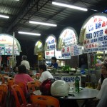 Hawker stalls tempt locals in a Penang night market
