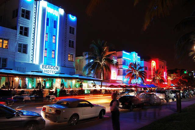 South Beach at night