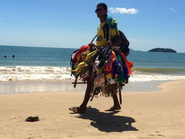 Bikini vendor on Jurere Beach, Florianopolis
