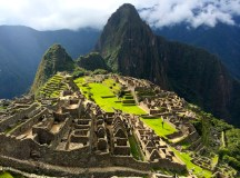 Machu Picchu with Wayna Picchu in the background.
