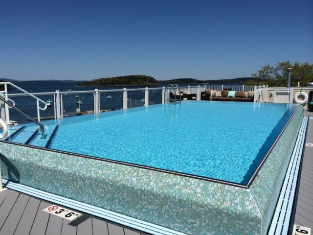 The delightful infinity pool at the West Street Inn.