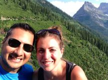 Ayaz and I in Glacier National Park.