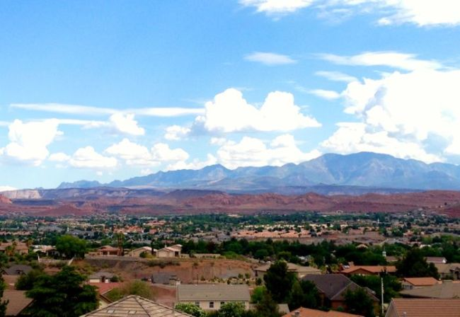 The view from our neighborhood in Utah.