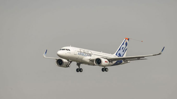 Airbus A319neo first flight