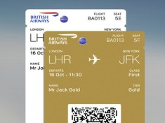 Multiple boarding passes on British Airways app