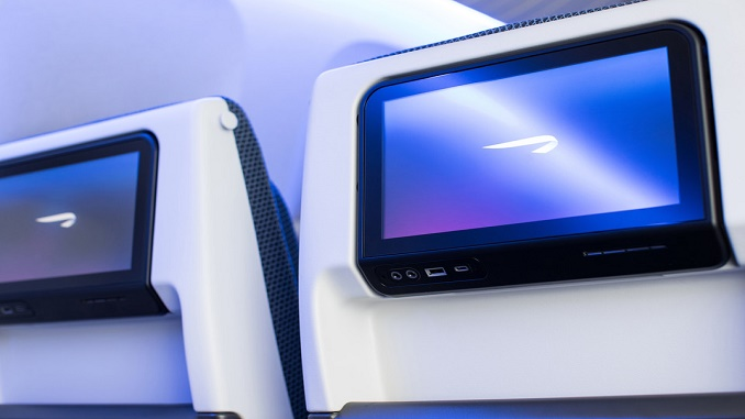 British Airways 777 World Traveller screen