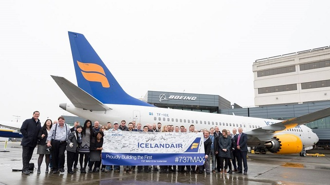 Icelandair's first Boeing 737 MAX