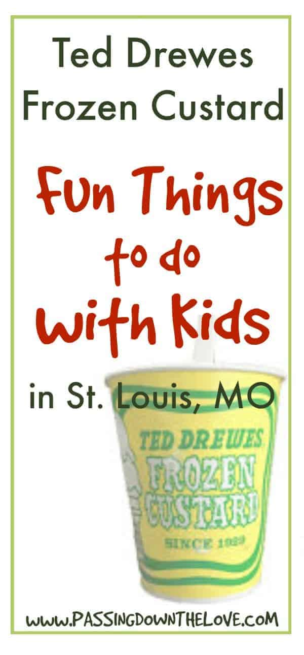 Ted Drewes Frozen Custard.  The best custard in the world!  Fun things to do in St. Louis, MO.