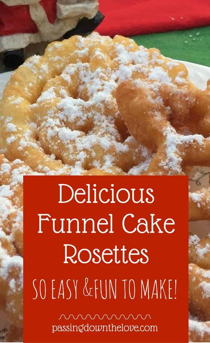 If you love funnel cakes, you'll love these rosettes.  They are fun to make, and oh, so good!  Cookie making is a Christmas tradition.