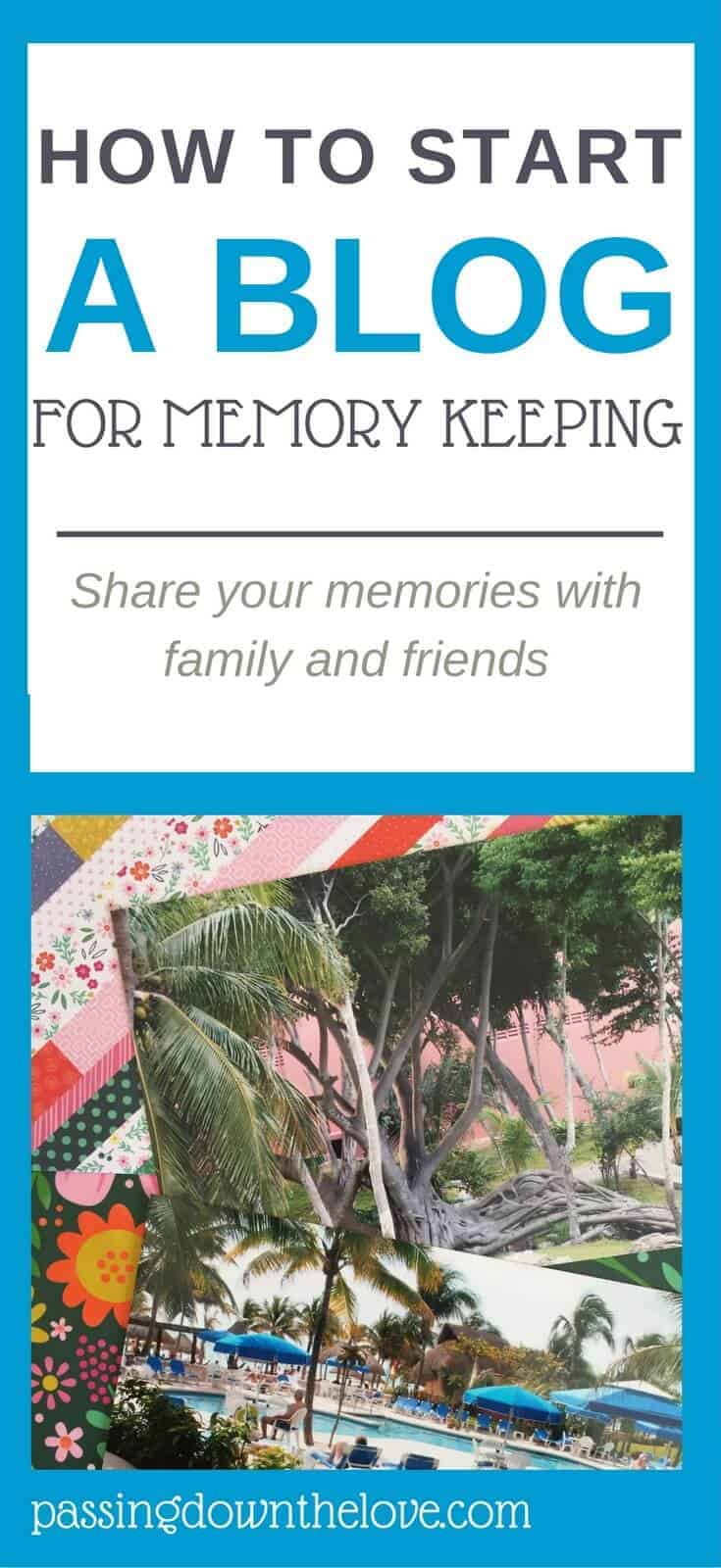 Use a blog for keeping and sharing your family memories.  Learn how to start a blog for memory keeping.  A fun way to share your life.
