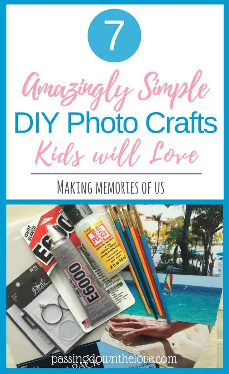 Amazingly simple DIY photo crafts kids will love.  Spend time creating memories with your Grandkids!  Fun projects for Grandparents to do with Grandchildren.