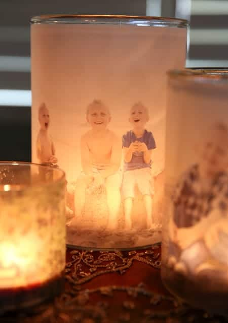Family Picture Luminaries