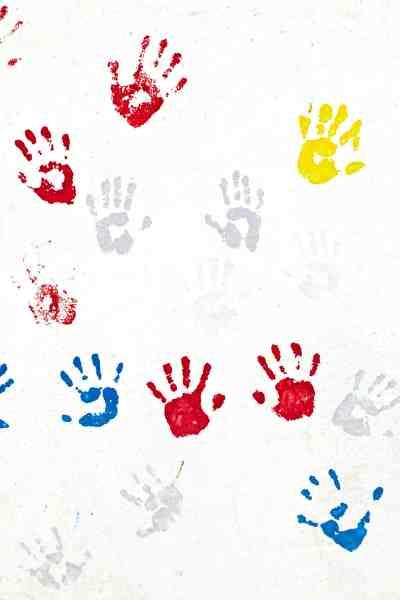 A Grandchild's Fingerprints on your Heart