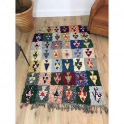 tapis berbere boucherouite style patchwork 168 x 115