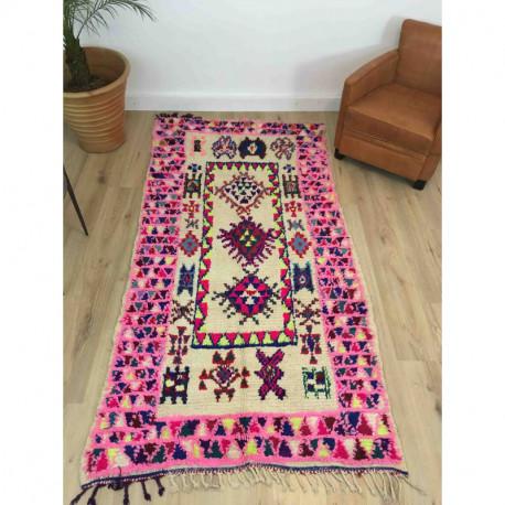 tapis berbere boujad rose 241 116