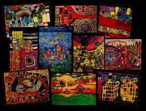 Friedensreich Hundertwasser Cartes Postales Artistiques