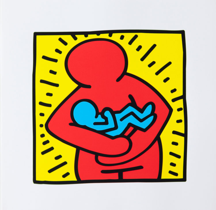 keith haring poster untitled 1986