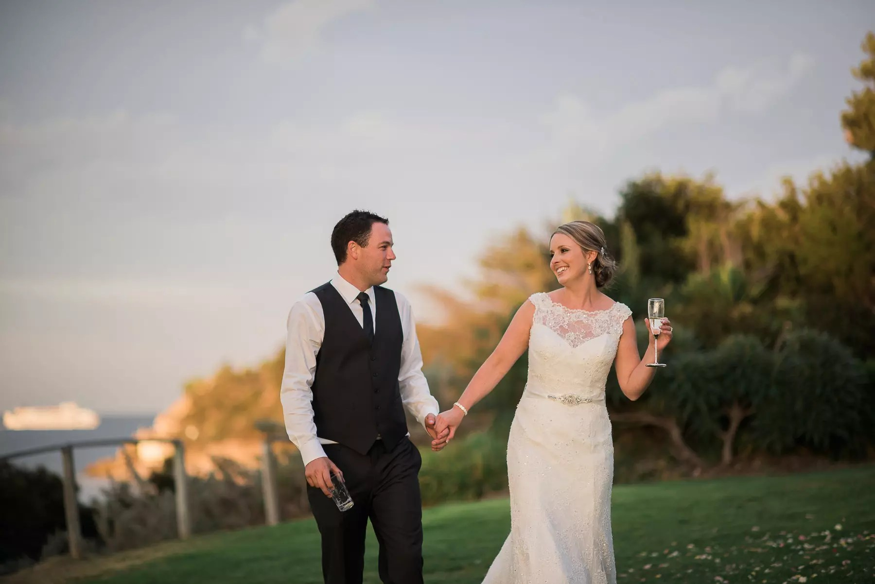 Wedding at Portsea Hotel cute couple