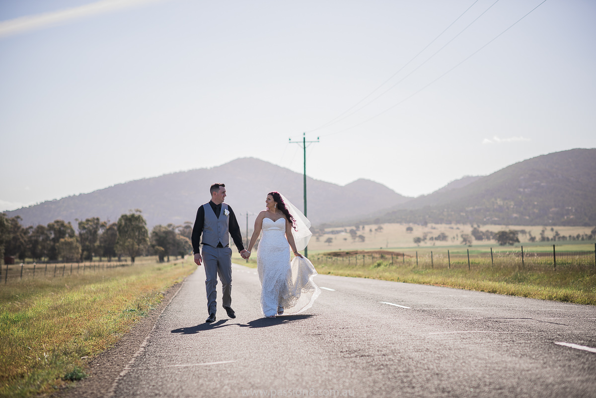 Country wedding road