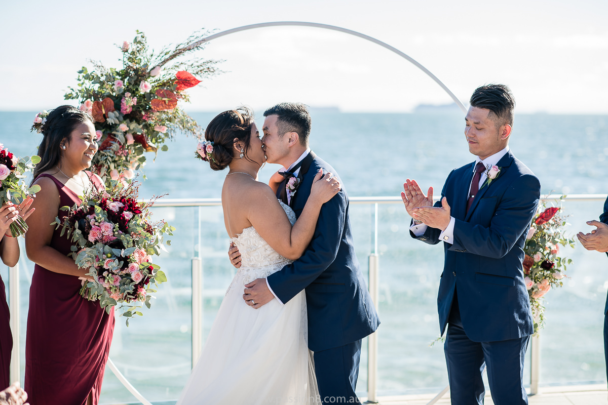 Sandringham Yacht Club fun wedding