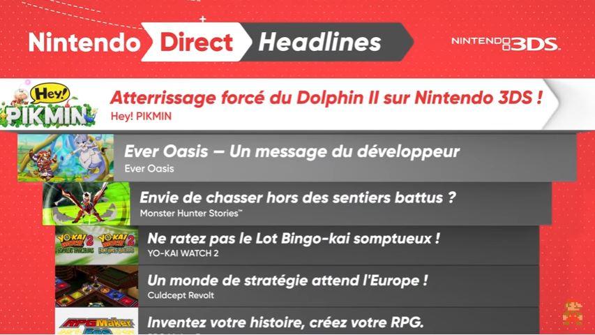 Nintendo Direct - Headlines 3DS