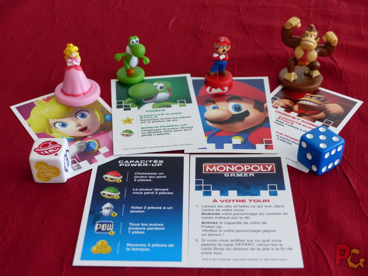 Monopoly Gamer - cartes du joueur