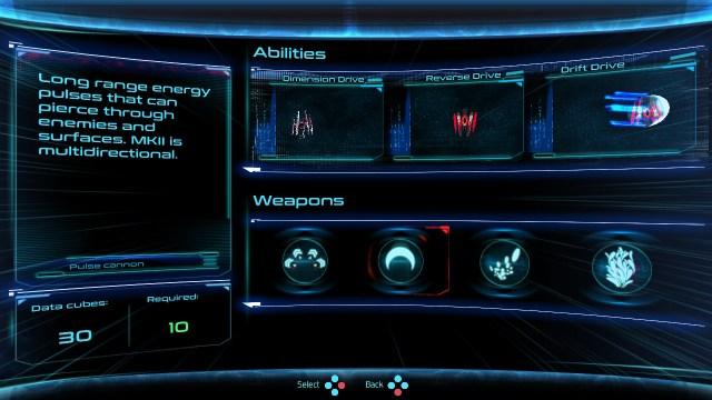 Dimension Drive - armes et capacités