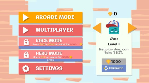 Jumping Joe and Friends Switch - modes de jeu