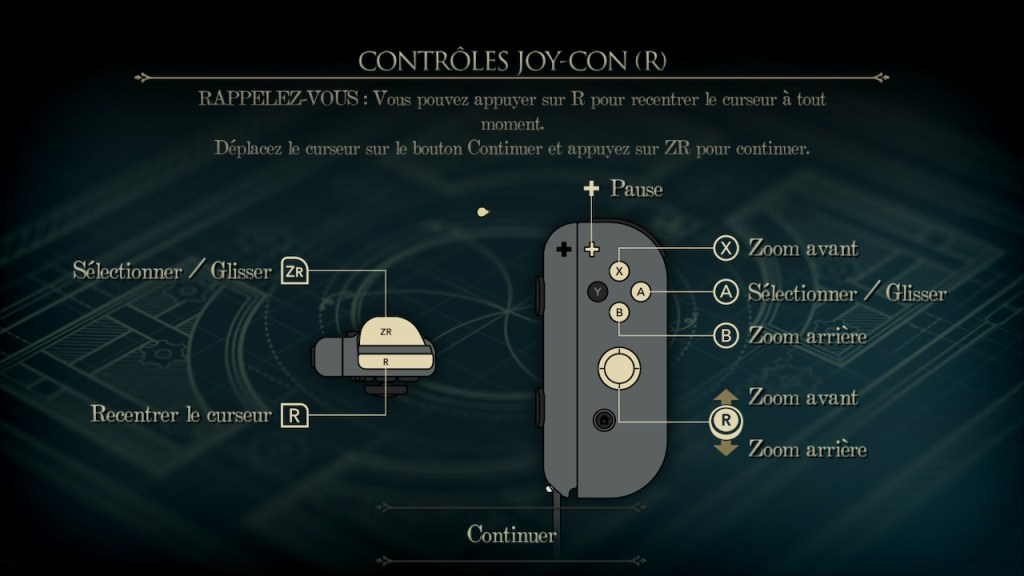 The Room Switch - commandes avec le Joy Con
