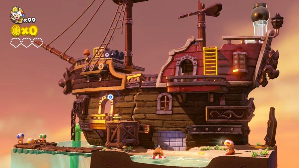 Captain Toad Episode Special - niveau bateau