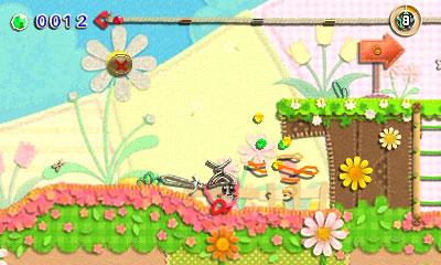 Kirby au fil de la Grande Aventure 3DS - kirby épée