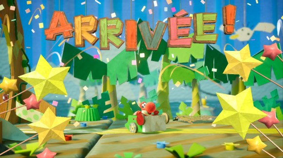 Yoshi Crafted World Switch - fin de niveau