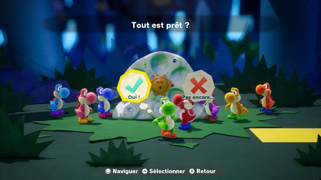 Yoshi Crafted World Switch - les Yoshis dans la forêt