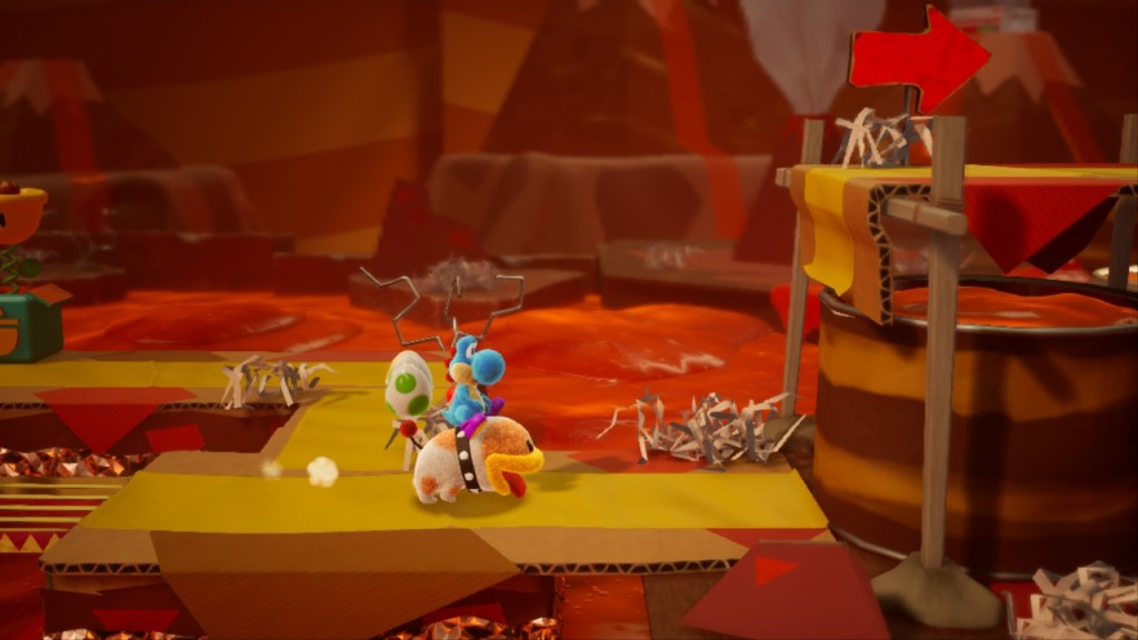 Yoshi Crafted World Switch - niveau avec Poochy