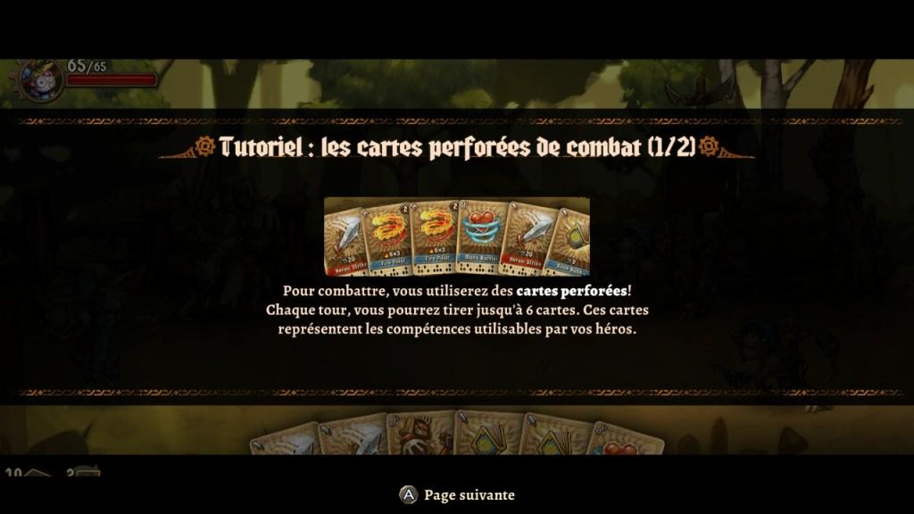 SteamWorld Quest - tuto combat avec cartes