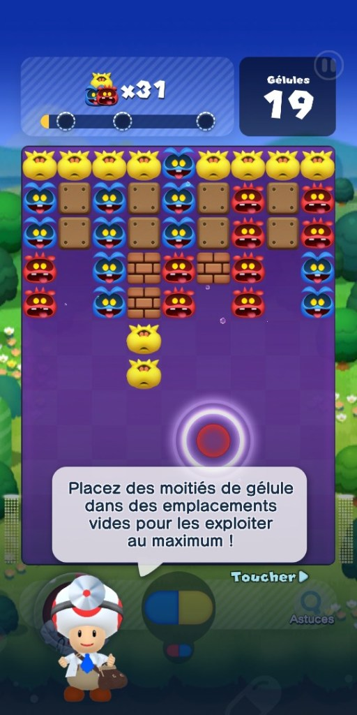 Dr Mario World - tutoriel docteur toad